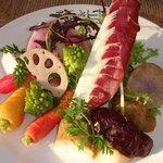 カポディモンテ - 野菜ソムリエ厳選の1月野菜のバーニャカウダ。最低20種はあります。