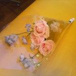 2812989 - 閉店間際、伺ったときに何故か頂いた花束