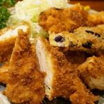 美松 - ササミとヤサイフライ(単品だと750円)