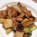 西安健菜キッチン - 中華ごはんセットの鶏と野菜の柚子胡椒炒め