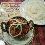グラス - マトンぺアザと日本米ライス