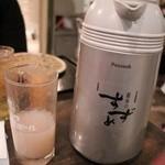 汁や - 金宮600ml3000円、割緑茶680円×2、割そば湯1000円