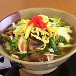 我部祖河食堂 - 野菜そば(季節によって、野菜がかわります。)