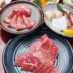 にく家 牛地蔵 - 料理写真:おまかせ焼肉コース(写真は2人前)