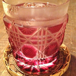 28143951 - 薩摩と言えば焼酎、薩摩切子で頂きます