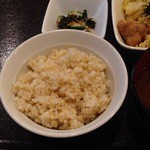 ナチュラ - 玄米ごはん 良く噛んでー。