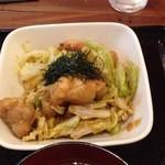 ナチュラ - 鶏肉の梅味噌炒め