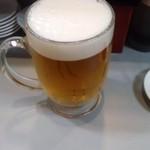 立喰 さくら寿司 - お約束の生ビール(14.06.11)