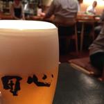 田心 - 生ビール。むちゃくちゃうまかったです。