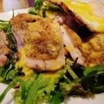 ザ タイムズ カフェ - オーガニック野菜とチキンのサラダランチ(ニンジンドレッシング)