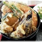 喜楽食堂 - セットのミニ野菜天丼