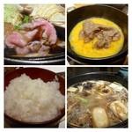 西新初喜 - 卵は糸島の「つまんでご卵」。割り下が甘めですので卵と頂くと丁度いいお味になります。  ご飯がツヤツヤで美味しいのです、ご飯好きとしては嬉しい ^^
