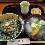 さかな道場 明石 - ランチ・いわしたたき丼セット(900円)