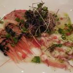 ワインバル 青木酒店 - 鮮魚のカルパッチョ盛り合わせ