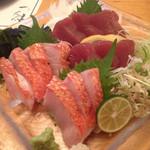 桜一 - かつおと金目鯛の刺身