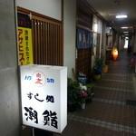 潮寿し - 唐人町商店街の側道