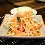 タイ・アヨタヤ・レストラン - 2014.6 ソムタムターイ(850円)青パパイヤのサラダ