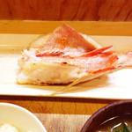 28158869 - キンキの干物・ご飯・三陸わかめと豆腐の味噌汁