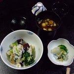 京風庵 芳家 - 松茸と紫いもの釜飯