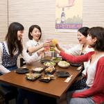 串道楽 潤 - 平日の女子会レディースプランは時間無制限飲み放題!