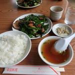 盛 - レバニラ炒め定食