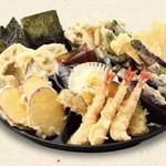 天丼 あきば - あきば盛り お好み天ぷらを各種承ります 490円(1人前) 980円(2人前) 1470円(3人前)
