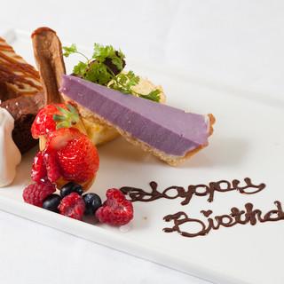 Birthdayやお祝いでメッセージを。