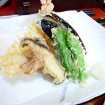 手打ち蕎麦 朝日屋 - 天ぷら