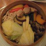 ユウアン - スチーム野菜と塩豚蒸し