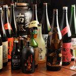 立川串揚げ えん - 厳選した本格焼酎や銘柄地酒など・・・。