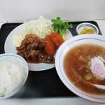 札幌屋台ラーメン - 料理写真:日替わり定食 (焼き肉&串カツ・らーめん・ご飯)