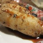 九州 熱中屋 - 竹巻きちくわのぽたぽた炭火焼きアップ