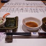 28174330 - 旬菜  じゅんさい山葵酢と枝豆豆腐