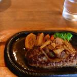 レストランたまねぎ - ハンバーグ (ガーリックソース)