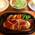 レストランたまねぎ - チーズハンバーグ(デミグラスソース)