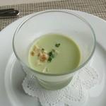 28178272 - 天豆の冷たいクリームスープ