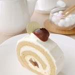 むすびcafé - 料理写真:良縁を願う方に人気「むすびロール」ロールケーキは渦巻き模様。たどるほど近づく。という幸せの意味がある