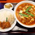 ぶっかけちゃいな - 〔日替セット〕スーラータンメン&ミニユイリンチー丼(¥950)。ボリューム満点