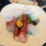 ひろせ - 料理写真:夜ゴハンのお刺身。甘海老がすごく美味しかったです