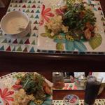アンジェニュ - セットのスープとサラダとドリンク(アイスコーヒーを選択)