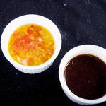 シュラスコ&ビアバー GOCCHI BATTA - お好みでモーリョピナグレッチのソースをご利用ください。