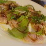 ピッツェリア ナポレターナ ラ・タヴォロッツァ - 鮮魚のカルパッチョ
