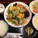 日本橋焼餃子 - 玉子とキクラゲの炒め物