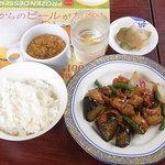 バーミヤン - 料理写真:中華一品ランチ¥699(税抜) スープバーは1種類 この日は玉子スープ☆♪