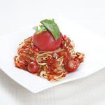 ピッツェリア - 料理写真:丸ごとトマトとモッツァレラチーズの冷製パスタ