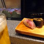 すし空海 - ビール&さば、かにみそ:2009年12月