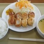 海門 - 「ぎょうざ定食」600円