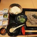 28202021 - おぼろ豆腐は温かくってフルフルしてます。3種類のお塩で頂きます~♡