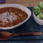 カフェ クマコ - 洋風おじやランチ。少しとろみがあるトマトスープにご飯がしっとり馴染んでいく。美味しかったです♪