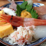 海鮮屋まるなん - 海鮮丼 アップ